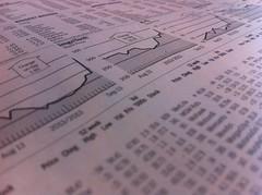 新聞欄の株式市場チャート