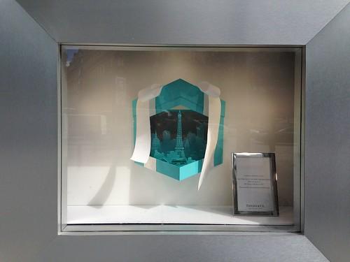 Vitrines Tiffany&Co sur les Champs Elysées - Paris, septembre 2013