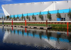 London 2012 Olympic Water Polo Arena (surreyblonde) Tags: park uk london sports swimming buildings reflections athletics athletes olympics stratford eastend paralympics london2012 waterpoloarena
