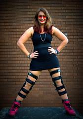 Amateur Modelling (JBOT | Adaptive Disability Lifestyle) Tags: pink black necklace beads student university hand dress braces boots little fierce leg jo jewellery syndrome made study bracelet bead dye knee dip cip southall lbd disability ehlers purl danlos hypermobility hypermobile