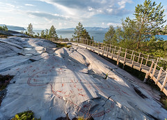 5200 years old - Rock carvings at Alta in the most northern part of Europe, Norway (UNESCO world heritage site) (Maria_Globetrotter (not globetrotting)) Tags: world travel summer heritage history tourism beautiful norway rock stone canon wow wonderful landsca