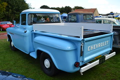 Chevrolet Stepside Pick Up - 1955 (jambox998) Tags: blue usa chevrolet 1955 up truck american tailgate restored pick import stepside