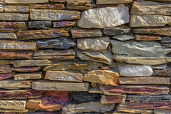 Stone Wall (Pauls-Pictures) Tags: life street color colour rock wall still construction rocks purple flat stones sony magenta 7 dry australia minerals mineral walls sabi alpha fremantle contemplative gems contemplating collector flatrock nex photogaphy streetphotograhy quarttz mikssang