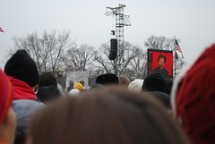 """Watching the """"We Are One"""" celebratory concert ahead of the inauguration of Barack Obama in Washington D.C. (gjbarb) Tags: washingtondc dc nationalmall obama inauguration brucespringsteen"""