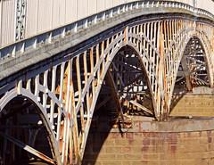 Close up of the Wye Bridge, Chepstow (CarolynEaton) Tags: bridge heritage history nikon historic chepstow listed wye wyevalley listedbuilding gradei nikkor18200mm gradeilistedbuilding grade1listedbuildings nikond7000 britishlistedbuildings
