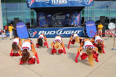 IMG_8832 (grooverman) Tags: plaza game sexy canon eos rebel football nice texas cheerleaders legs boots stadium nfl houston booty t3 dslr budweiser texans pregame reliant 2013