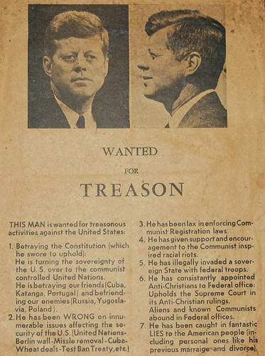 JFK Wanted for Treason Dallas 1963, From FlickrPhotos