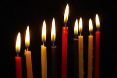 Hanukkiah 2 (Ben Unleashed!) Tags: light holiday macro fire israel candle celebration festivaloflight flame upclose menorah hanukkiah pentaxkr