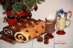 Chocolate and vanilla roll cake (more_sugar) Tags: christmas winter cake ganache sugar desserts homemade