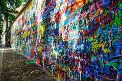 Untitled (pitrotlab) Tags: shadow summer colors wall writing john graffiti words colorful republic czech prague lennon