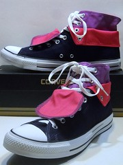Two Fold Blue Ribbon, Orchid & Hot Pink Hi (hadley78) Tags: world stars shoe star shoes all joshua top low ripleys ct ox guinness collection converse taylor record cons chuck hi tops chucks largest mueller hadley78 thatconverseguy