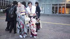 Moshi Moshi (randomwire) Tags: woman japan tokyo shibuya age kimono day  coming