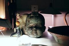 what a doll (omoo) Tags: newyorkcity art doll apartment interior westvillage kitsch diningroom antiques tabletop diningtable greenwichvillage whatadoll headmold dscn2190 mccoysailorbank quartzlight circussealwithtwirlingbeachball tiziotablelamp dollsheadmold seamenssavingsbanksailorsavingsbank