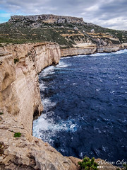 Malta --- Fomm ir-Rih (Drinu C) Tags: longexposure sea seascape nature clouds landscape waves sony malta dsc fommirrih blinkagain hx100v adrianciliaphotography
