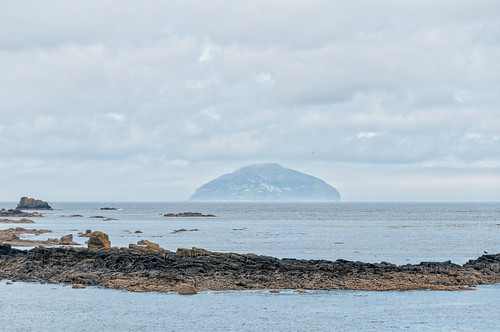 Maidens: view of Ailsa Craig