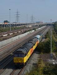 47739 etc at Washwood Heath. 28.09.13 (Joseph 81) Tags: train trains demelza colas class47 50007 37190 siredwardelgar 47749 47739 robinoftemplecombe colasrailfreight