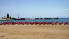Caleta De Fuste (GIIBRG) Tags: beach harbour parasol canaryislands caletadefuste fuerventura