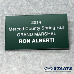 Staats Awards Merced County Spring Fair Grand Marshal Name Tag 2014 (Staats