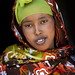 Portrait Of A Smiling Young Woman With Patterned Veil, Hargeisa, Somaliland