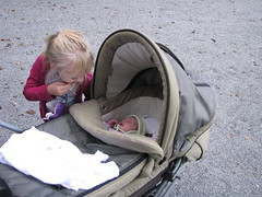 Blick in den Kinderwagen