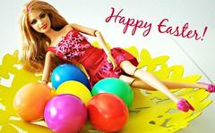 Happy Easter! (Deejay Bafaroy) Tags: pink blue red orange green rot yellow easter doll purple barbie lila gelb eggs grn blau ostern mattel puppe violett fashionistas eier happyeaster froheostern ostereier