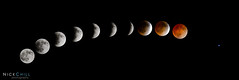 Evolution of an Eclipse (Nick Chill Photography) Tags: composite photography nikon space iowa decorah lunareclipse bloodmoon redmoon spica d600 stockimage nickchill april2014