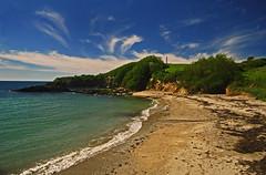 Polridmouth Beach, Cornwall (suerowlands2013) Tags: cliff beach sand cornwall waves cove fowey daymarker gribbenhead polridmouthbeach