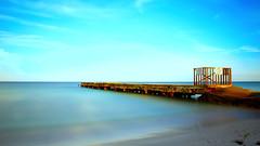 Coquina Beach Florida (Postcards From The Edge Photography) Tags: longexposure sea sky usa beach sand florida bradenton coquinabeach sonyalphaslta77