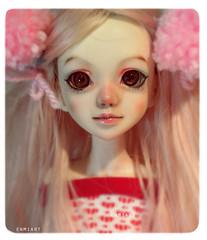 Lo-lee-ta (bittersweetenmi) Tags: pink stockings set panties hearts doll underwear lolita bjd hybrid undies pajamas pompoms striped msd unoa sist dollchateau