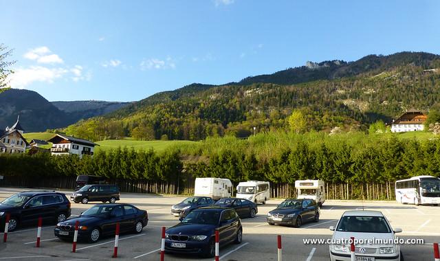 Parking para pernoctar a la entrada de St.Wolfgang