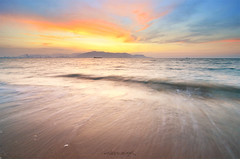 The Island Part II (nadzli.azlan7) Tags: sunset sea sky cloud sun motion art nature clouds landscape landscapes scenery waves seascapes dusk sunsets burning malaysia penang scapes waterscapes naturelovers dusks artofnature d7000