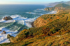 Big Sur coast, Hurricane Point (Rod Heywood) Tags: ocean seascape coast mar rocks waves pacific scenic bigsur cliffs highway1 pacificocean vista viewpoint bixbybridge hurricanepoint