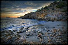 (148/15) Cala Ti Ximo (Benidorm) (Pablo Arias) Tags: espaa photoshop spain alicante cielo nubes atardeceres calas hdr benidorm photomatix sigma1020 nikond300 pabloarias