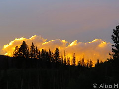 July 24, 2015 - The clouds in Arapahoe National Forest appear to be on fire at sunset. (Alisa H)