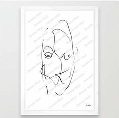w25 (demetermojis) Tags: black white abstract minimalism portrait love smile mojis emoticons linedrawing