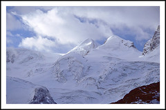 Castor and Pollux From the Gornergrat - 1994 (sjb4photos) Tags: switzerland suisse schweiz gornergrat castorandpollux swiss alps swissalps peninealps
