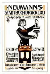 Berlin Gleiwitz, Inserat Druckerei 1910 (zimmermann8821) Tags: annonce anzeige berlin deutscheskaiserreich druck firmenlogo grafik grafikdesign illustration inserat logo marketing mehrfarbendruck signet werbung gleiwitz schlesien adverts