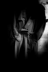 (willy vecchiato) Tags: blackandwhite biancoenero monochrome monocramatico 2017 fuji x100s man empty portrait mistery minimalist mistero minimal suspance noir grain grainy bokeh vuoto coat
