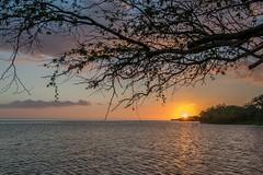 Last Rays (helenehoffman) Tags: shoreline beach ocean sunset molokai water smallboat hawaii pacific sea