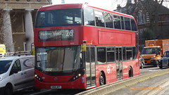 P1490174 2530 SN66 WRT at The IMAX Roundabout Waterloo Road Waterloo London (LJ61 GXN (was LK60 HPJ)) Tags: ctplus hackneycommunitytransportgroup enviro400hybrid enviro400h enviro400hhybrid enviro400hybridcity enviro400hcity enviro400hhybridcity e400h city enviro400city 2530 sn66wrt g4599