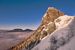Twilight time magic  ; La Dent de Jaman no. DSC_6487. (Izakigur) Tags: vaud vd cantonvaud 2017 nikkor nikond700 nikkor2470f28 myswitzerland musictomyeyes lumière europa swiss suiza suisia suizo dieschweiz d700 winter lhiver twilighttime coucherdesoleil sunset twilight svizzera switzerland europe alps alpes alpen alpi white neige snow red orange iamarock coldplay fixyou izakigur topf25 100faves 200faves 250faves 500faves 750faves
