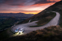 Go together (Gift of Light) Tags: car sunrise sunlight mountain road gravel path route sky cloud morning day twilight grass vehicle newzealand travel theremarkable queentown landscape touristattraction traveldestination summer sony sonyalpha alpha sonya7rii sonya7rmkii a7rii a7rmkii sonyvariotessartfe1635mmf4zaoss variotessar t fe za oss 1635mm 16354 f40 41635 outdoor