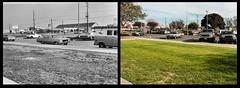 Los Alamitos High - Comparison of Front Parking Lot (49er Badger) Tags: losalamitos losalamitoshigh