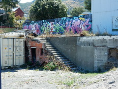 Lyttelton (Jacqi B) Tags: christchurch hbottrip container shippingcontainer lyttelton steps stairs graffiti