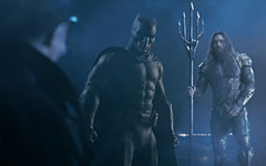 Commissioner Gordon: [to Batman] Good to see you playing with others again. Aquaman: Just like a bat! I dig it. Batman: It may be temporary... (spankysixteen3) Tags: