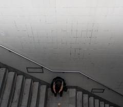 inbetween Levels (i bi) Tags: berlin alexanderplatz amputee stairs subway train station disabled beggar