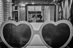LOVE (Daz Smith) Tags: dazsmith fujixt20 fuji xt20 andwhite bath city streetphotography people candid canon portrait citylife thecity urban streets uk monochrome blancoynegro blackandwhite mono reflection woman glasses sunglassses love heart heartshaped