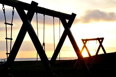 empty playground (Fearghàl Nessbank) Tags: nikon d700 emptyplayground sun playground art