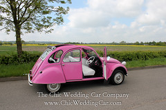 Rosie in the country-22 (magicalnights) Tags: pink wedding car derbyshire 2cv chic weddingcar shabbychicwedding sexyweddingcar 2cvweddingcar derbyweddingcars