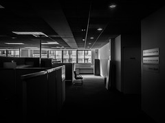 Empty (wwward0) Tags: nyc window monochrome contrast moving office chair manhattan empty nyu relocation